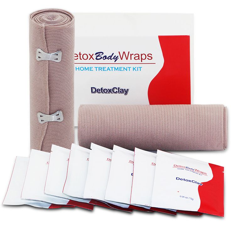Detox Body Wrap for Sliming and Cellulite Contains 2 Bandages and 8pcs Clay 10PCS/ 1box #Affiliate