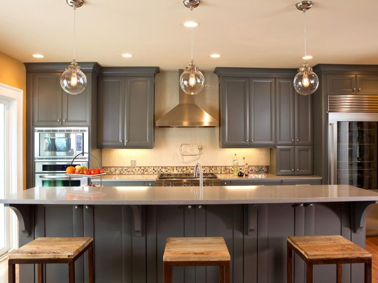 Ideas for Painting Kitchen Cabinets + Pictures From Kitchens, Hgtv