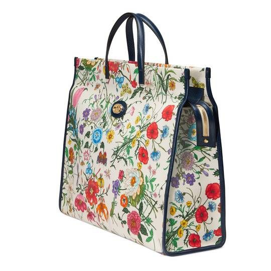 1c6a9481b00 Medium Flora tote bag in 2019 | IT'S ALL ABOUT GUCCI! | Bags, Gucci ...