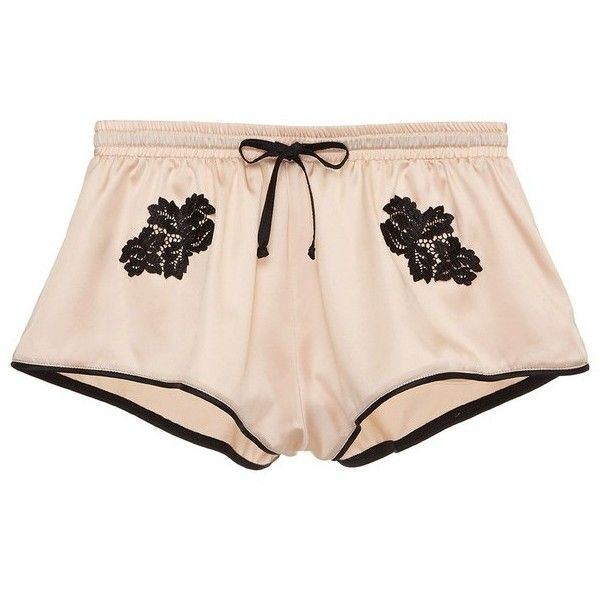 Cosabella Paige Boxer (305 BRL) ❤ liked on Polyvore featuring intimates, panties, neutral, sleepwear, cosabella, satin boxers and short boxer