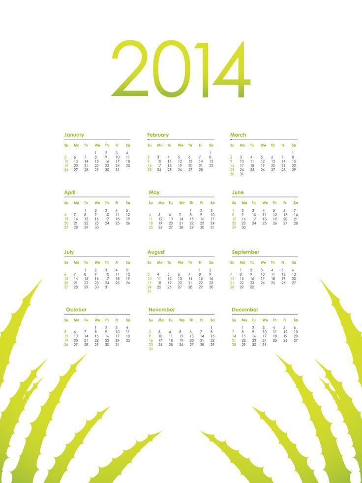 Calendario 2014 con dise o simple http - Disenos de calendarios ...