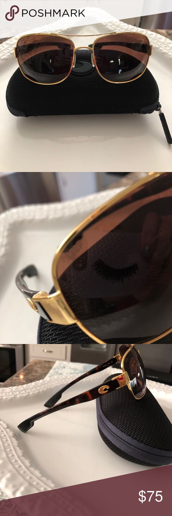 Costa Del Mar sunglasses Costa Del Mar sunglasses POLARIZED COCOS IS THE STYLE SOME SCRATCHES ON THE LENS NOT TO BAD THOUGH HAS CASE STILL IN GREAT CONDITION Costa Del Mar Accessories Sunglasses
