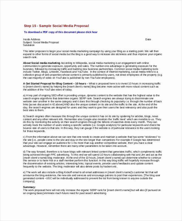 Social Media Proposal Pdf Lovely 10 Social Media Proposal Examples Samples In Pdf Word Marketing Proposal Proposal Templates Marketing Plan Template Social media proposal templates