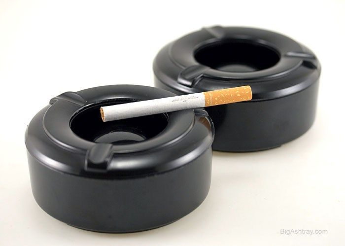 Superb Set Of Two Windproof Ashtrays Deep Well