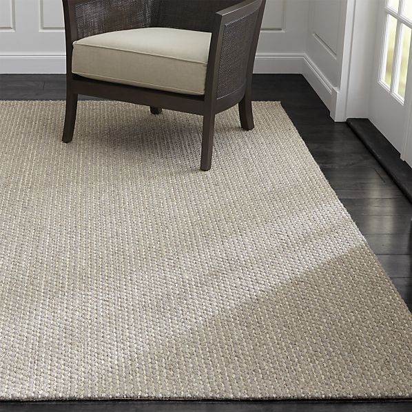 Voight Wool-Blend Rug | Crate and Barrel