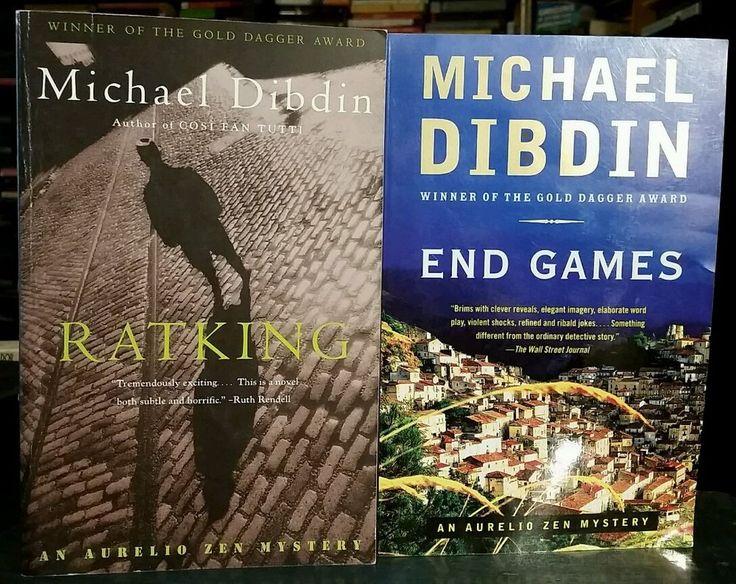 Michael Dibdin SET of 2 - End Games & Ratking (Crime Fiction Mystery) Free Ship