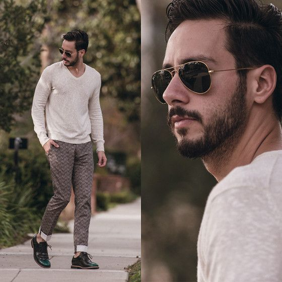 Reinaldo Irizarry - Club Monaco Sweater, Topman Trousers, Tsubo Shoes, Ray Ban Sunglasses - CALIFORNIA MORNINGS