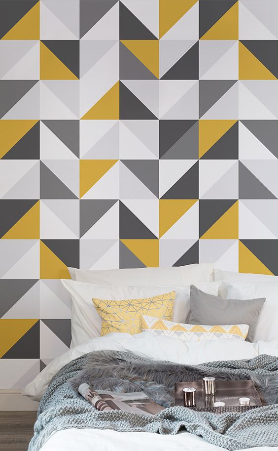 108 Best Geometric Wallpaper Murals Images On Pinterest