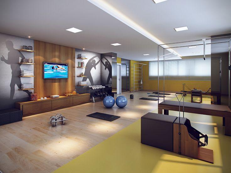 Sala especial de Pilates projetada para o seu conforto.