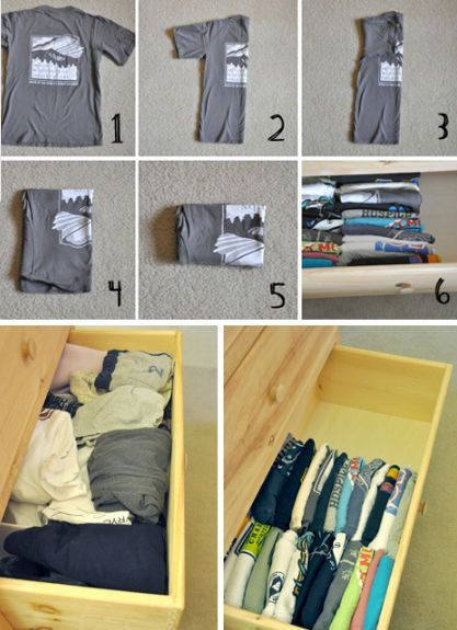 See ALL of your shirts! Here's how to make the most of small dorm clothes storage space. #collegehack #hackcollege #collegelife