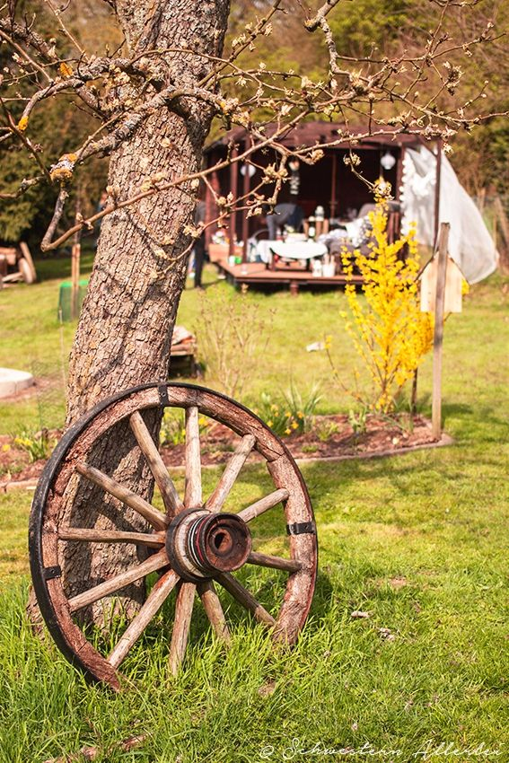 611 best Wagon wheels, Water pumps & Dinner bells images on ...