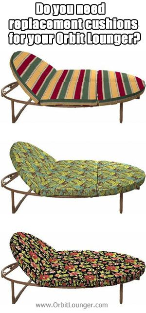 Orbit Lounger Replacement Cushions In 3 New Patterns.