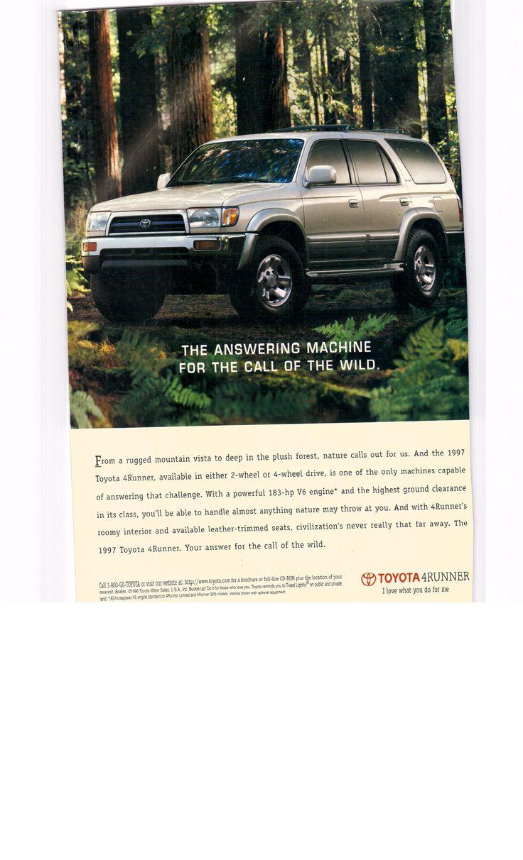 1997 toyota 4runner national geographic december 1996