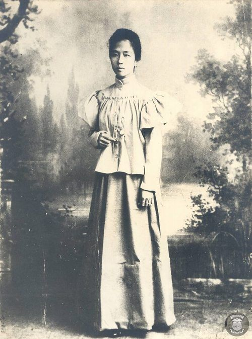 General Emilio Aguinaldo's first wife, Hilaria del Rosario. The first, First Lady of The  Philippines
