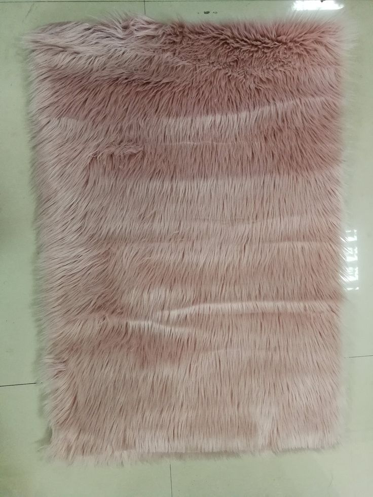 HUAHOO White Faux Sheepskin Area Rug Chair Cover Seat Pad Plain Shaggy Area Rugs For Bedroom Sofa Floor Ivory White (3' x 5' Bedside Rug, Dark Pink)