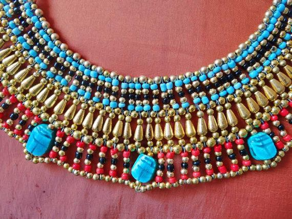 Increíble traje de danza egipcia hecha a mano de CLEOPATRA