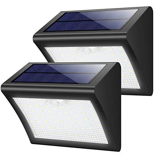 Yacikos Solarleuchten Aussen 60 Led Solarlampe Mit Bewegungsmelder Solar Wandleuchte Solarlicht Wasserdichte Solar Sicherheitsbeleuchtung Solar Licht Solarlampe