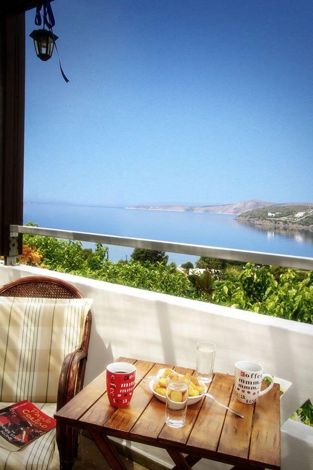 Balconies with great sea view Skyros Island Greece Thalassia Studios -Thalassia.gr