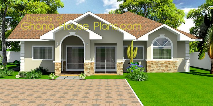 Tiny house plans ghana homes 3 bedroom single storey for House designs 7 bedrooms