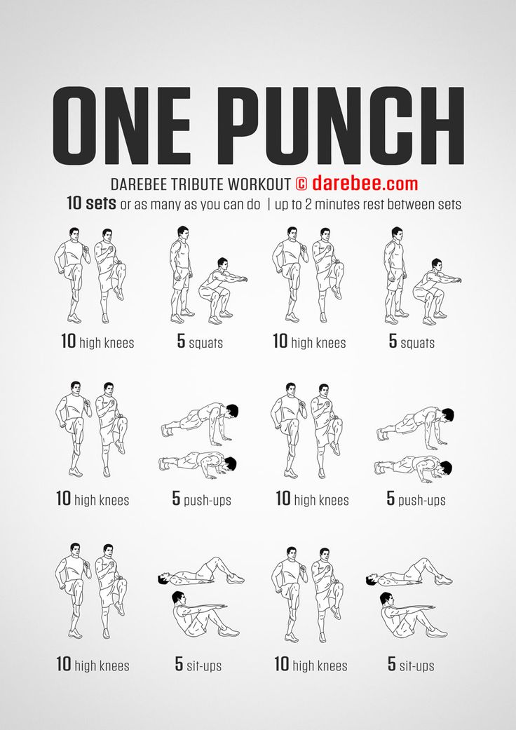 One Punch Workout | Fitness & Training Tips | Pinterest ...