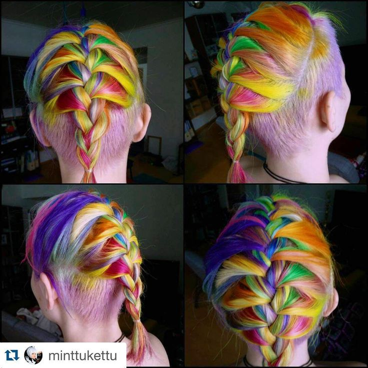#Repost @minttukettu ・・・ Re did my hair with new colors, there was little wine involved so i messwd up my undercut. more pinks and purples this time. Its called candycolossal #dyedhair #crazyhair #shockhair #rainbowhaircolors #rainbowhair #unicornhair #fantasyhaircolor #larichedirections #hermansamazinghaircolour #hermanprofessional #hermanshaircolor