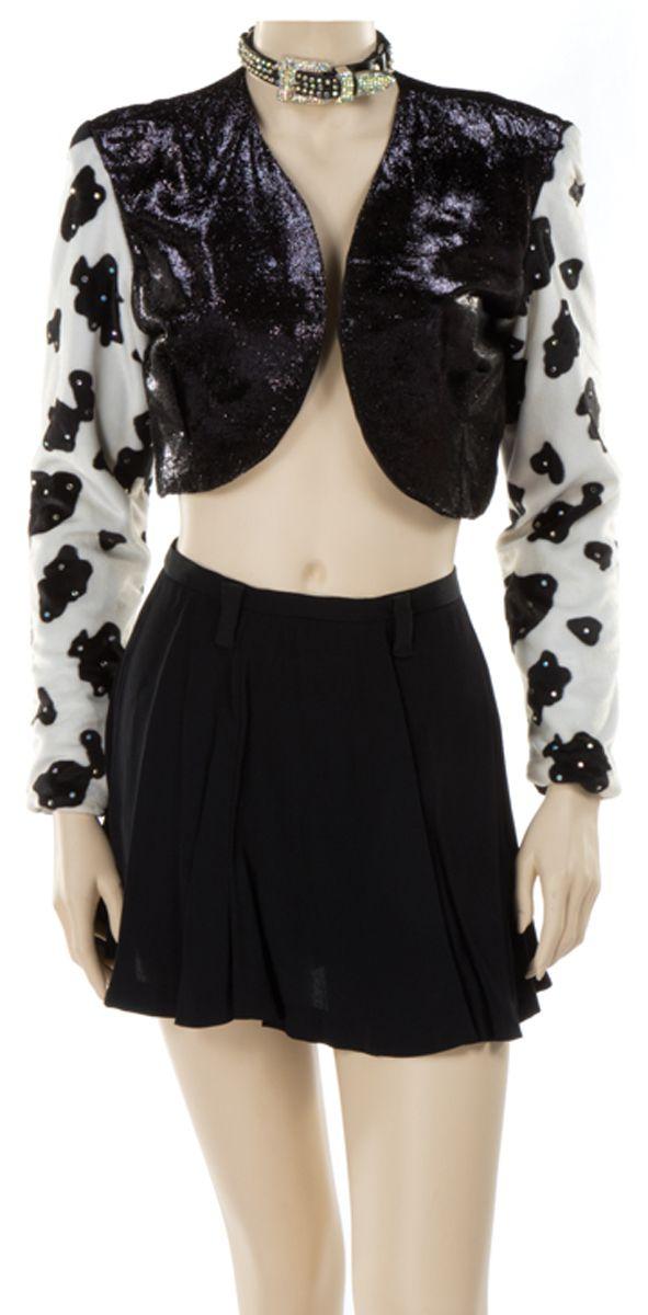 """Selena"" cow print costume ensemble from Selena."