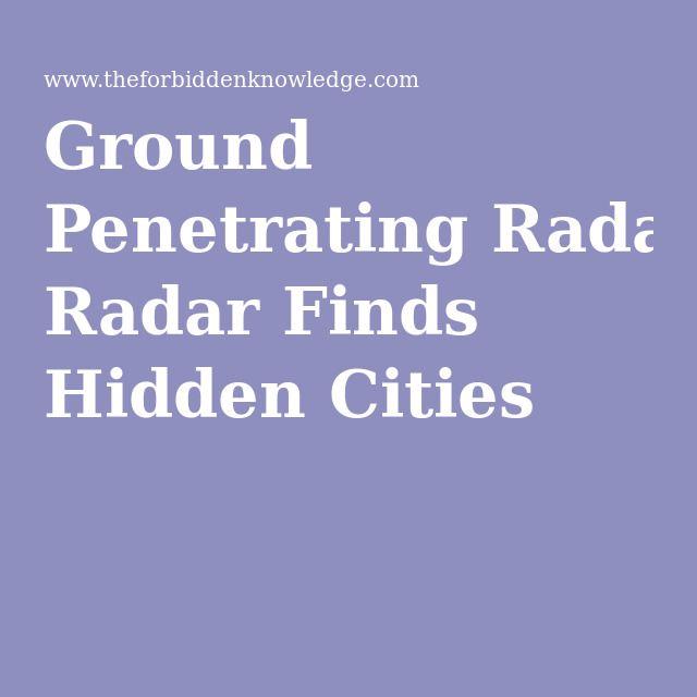 Ground Penetrating Radar Finds Hidden Cities