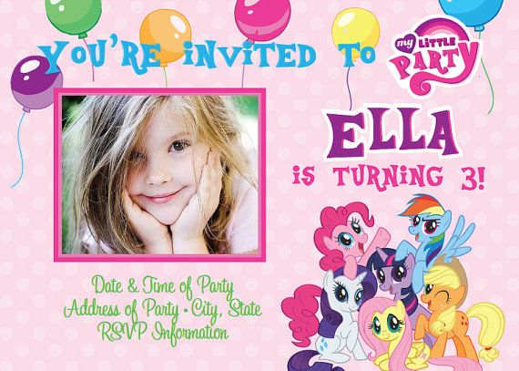 53 best pony images on pinterest | birthday party ideas, my little, Printable invitations