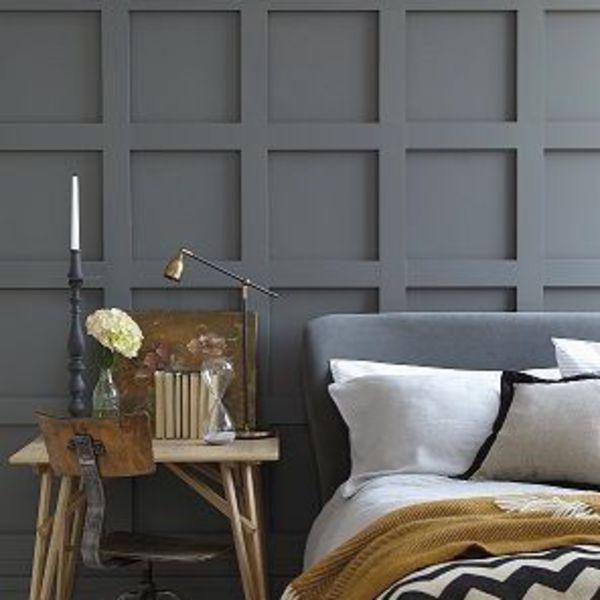 Un gris mat en guise de tête de lit