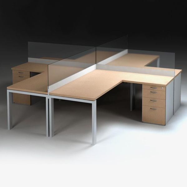 Margin Cluster desks make it possible to create multiple group workstations, especially in open plan workplaces