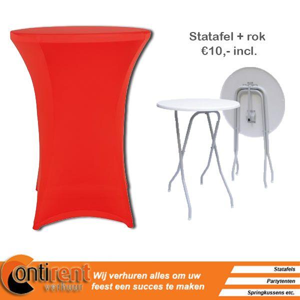 Appeltjes rood en erg sfeervol op uw feest! Rood is een vrolijke kleur en zal bij je gasten een blijvende indruk achterlaten!  http://contirentverhuur.nl/index.php/party-benodigdheden/tafel-linnen/statafelrok-stretch-rood.html