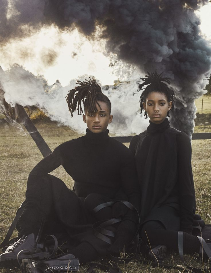 "hausxgala: ""  Willow and Jaden Smith shot by Steven Klein for Interview Magazine """