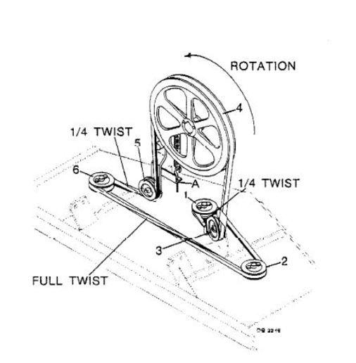 woods rm660 finish mower belt diagram