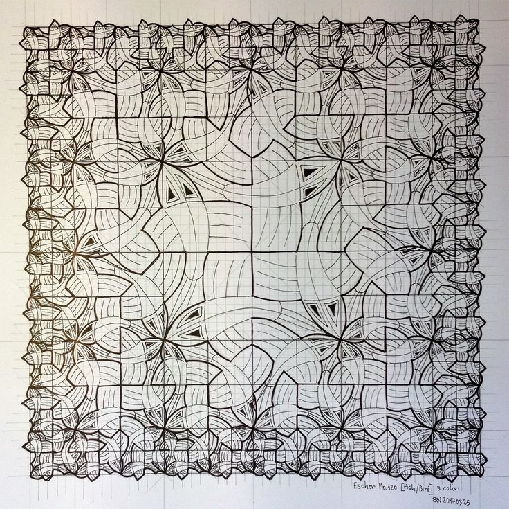 160 best mc escher by regolo54 images on pinterest for Mc escher tessellations coloring pages