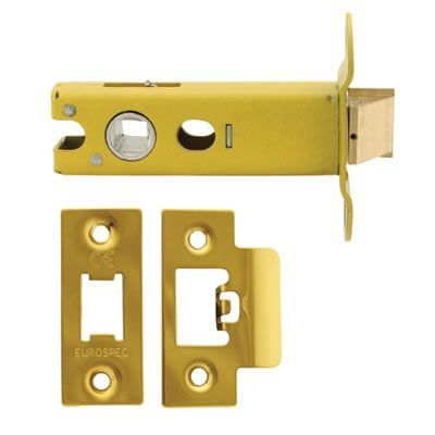 Altro Heavy Duty Tubular Latch - 76mm Case - 57mm Backset - Electro Brass | Ironmongery Direct