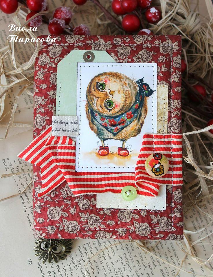 Create. Inspire. Love: Весенняя открытка, блокнотик с совой и мой блокнот в журнале
