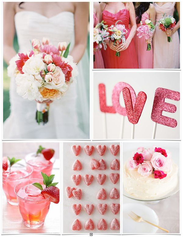 Pink U0026 Red Valentineu0027s Day Wedding Ideas | Heart Love Weddings