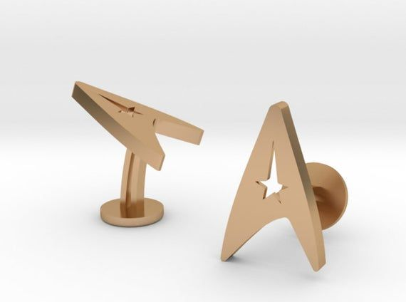 Custom Star Trek Cufflinks   Personalized Gifts For Him   Custom Engraved Cufflinks   Geek Wedding C