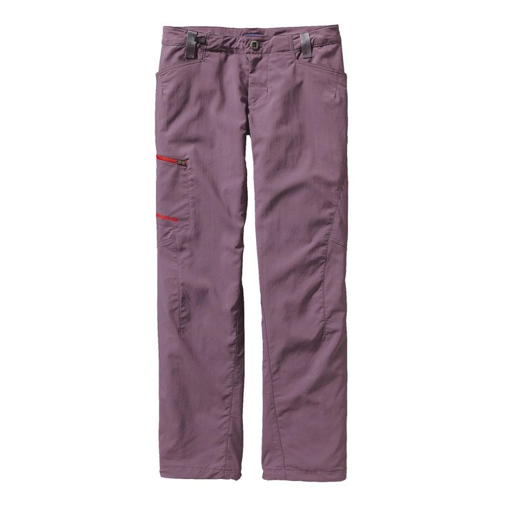 PATAGONIA WOMEN'S RPS ROCK PANTS $89 lightest-weight rock climbing pants, made from a nylon/polyester stretch-woven fabric with a DWR (durable water repellent) finish.