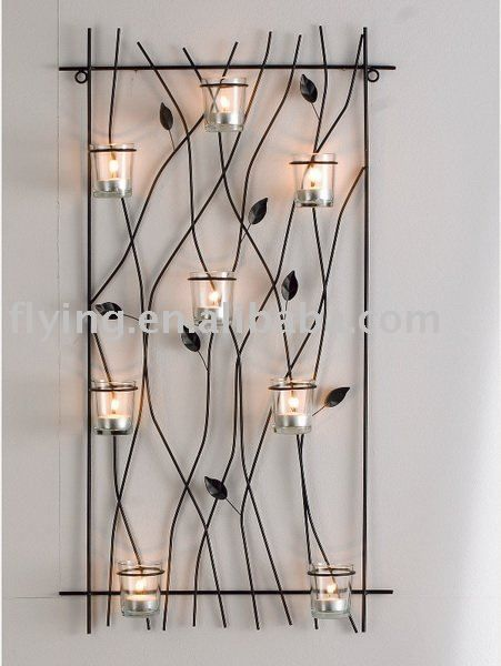 Metal wall mounted tealight candle holder, wall candle holder, kerzenhalter, HWW-83141