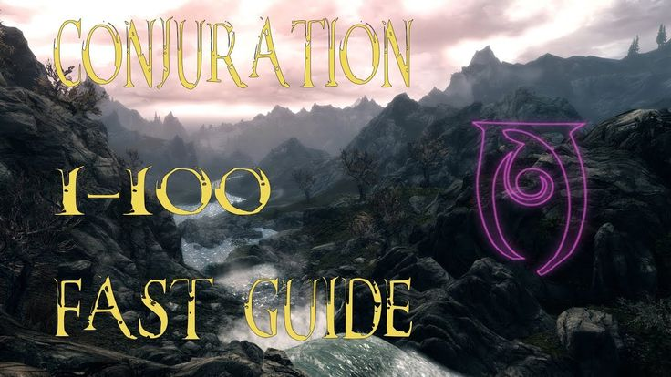 Conjuration fast level guide #games #Skyrim #elderscrolls #BE3 #gaming #videogames #Concours #NGC