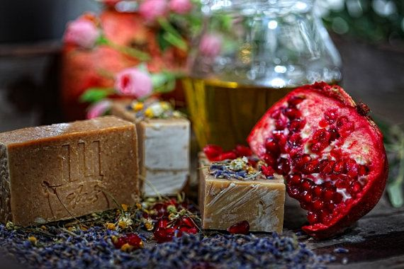 PomegranateRoseLavenderChamomile 100 natural by 111elies on Etsy