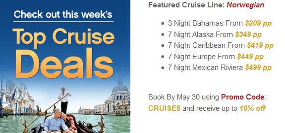 CRUISE DEALS of the Week! http://ht.ly/Nrylz & MORE! Click & Scroll...