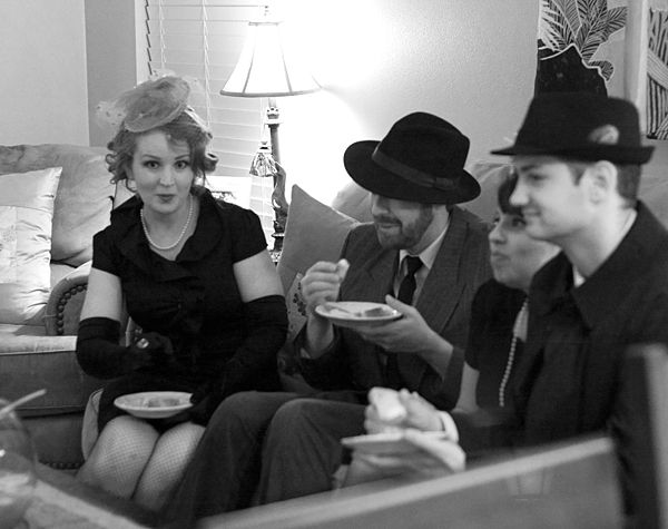 Casablanca-themed dinner party. Think of getting those hats for the guests???