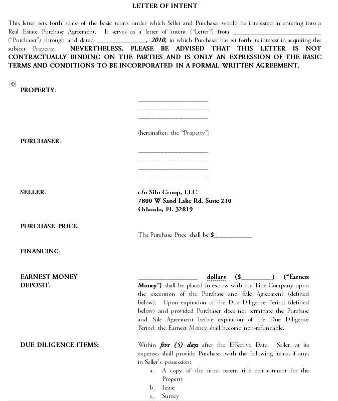 Letter Of Intent Sample Letter Of Intent Lettering Intentions