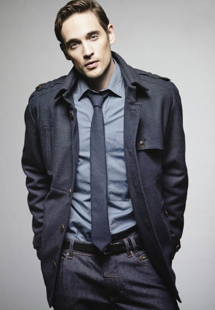 Irving mid jacket, Baldwin shirt, Auden tie, Clean Jim jeans. In stores in August 2013.