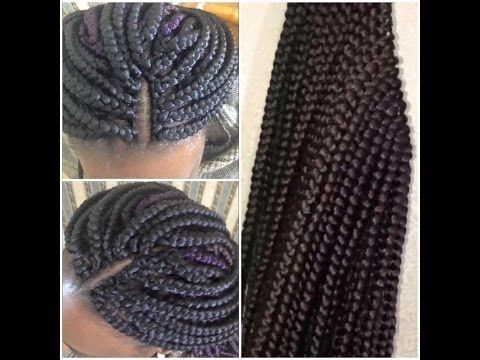 Nice way to anchor hair) - How to Pre-braid Box Braids Crochet ...