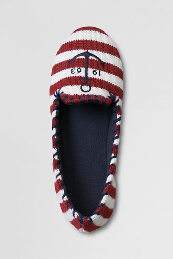 Nautical slippers... the little old lady inside me wants these REALLY bad!! : )
