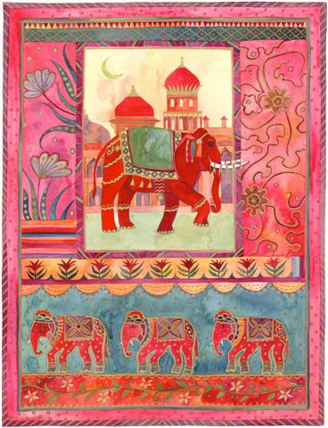 indian elephants watercolour  Jenny Reynish