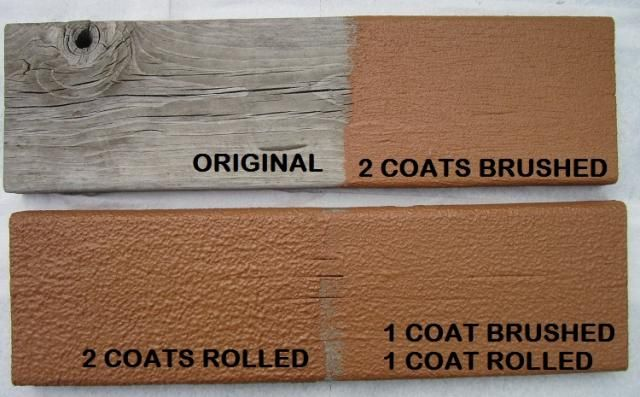 Deck Restore application - brushed vs rolled vs rolled and brushed